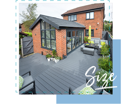 A decking area and orangery