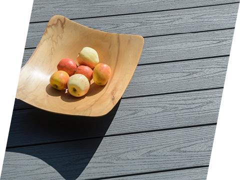 Fruit bowl on decking