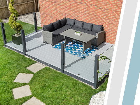 UPVC decking with outdoor furniture
